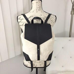 Deux Lux Canvas Vegan Leather Demi Backpack
